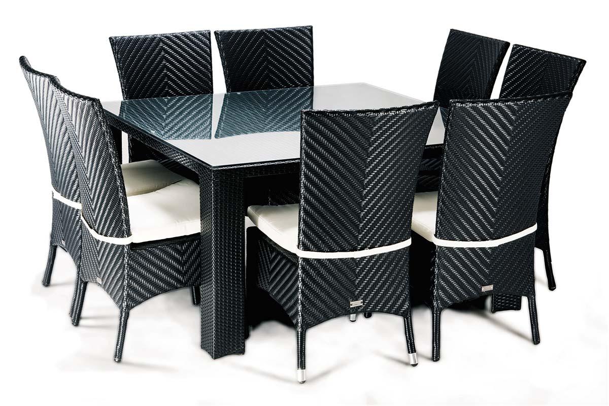 Salle A Manger De Jardin En Resine Tressee chaises et table à manger de jardin en résine tressée - lounge 8 - ensemble  repas / dinning