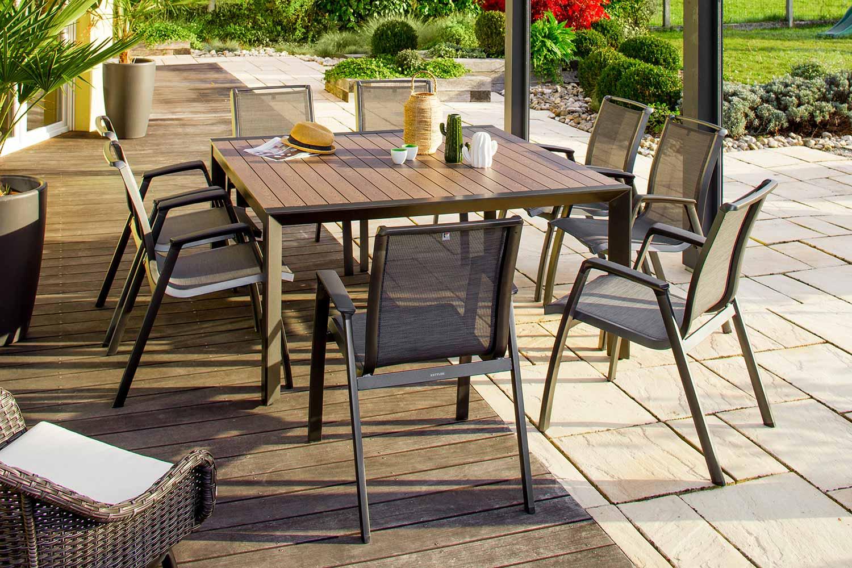 Table de jardin carrée – MALAGA 150x150 cm