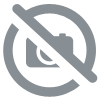 statue chien funny blanc resine
